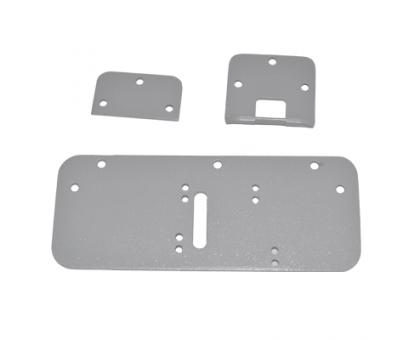 Монтажний комплект для замків Dori на пластикові двері (срібло)