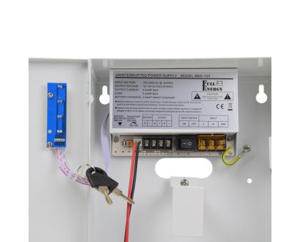 Блок безперебійного живлення Full Energy BBG-125-L для відеоспостереження 12В, 5А, під 18Аг акумулятор
