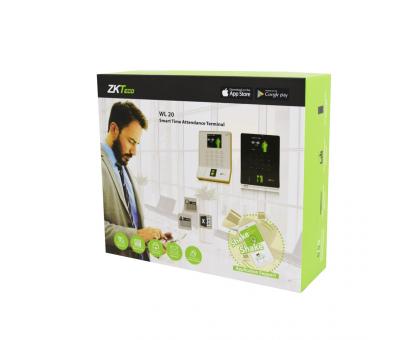 Біометричний термінал ZKTeco WL20 black зі зчитувачем відбитка пальця з Wi-Fi