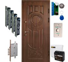 Комплект броньованих дверей ТИТАН GSM з 4 ригельними замками + GSM