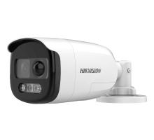 HD-TVI відеокамера 2 Мп Hikvision DS-2CE12DFT-PIRXOF (3.6 мм) ColorVu з PIR датчиком і сиреною для системи відеоспостереження