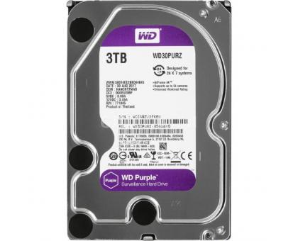 Жорсткий диск 3TB Western Digital WD30PURZ для відеоспостереження