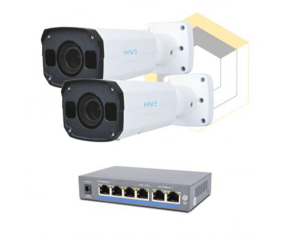 Комплект для керування і контролю доступу автотранспорту на 2 камери