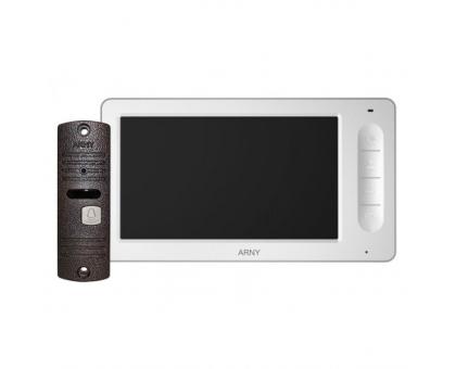 Комплект відеодомофона Arny AVD-7006 (білий/мідний)