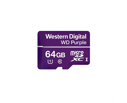Карта пам'яті MICRO SDXC 64GB UHS-I/Western Digital PURPL/WDD064G1P0A WDC