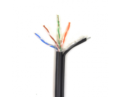 UTP 4*2*0.5-CU PE MP кат.5е (UTP медь наружный с несущей проволокой) бухта 305м