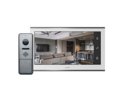 Комплект Wi-Fi відеодомофона Arny AVD-7330 (2Mpx) white+graphite
