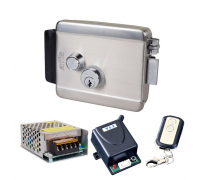 Комплект контролю доступу з електромеханічним замком ATIS Lock SS, радіоконтролером Yli Electronic WBK-400-1-12, блоком живлення Full Energy BGM-123Pro 12 В / 3 А