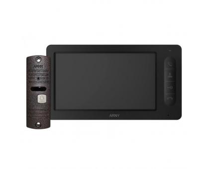 Комплект відеодомофона Arny AVD-7006 (чорний/мідний)