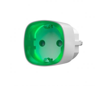 Радіокерована розумна розетка Ajax Socket white EU з лічильником енергоспоживання