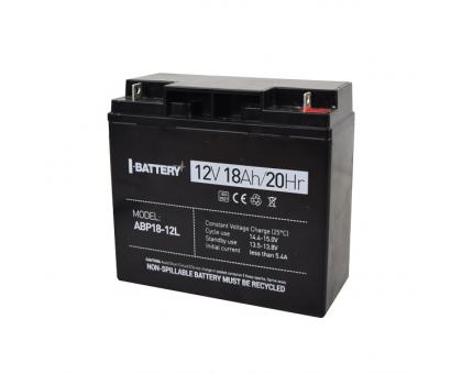 Акумулятор 12В 18 Аг для ДБЖ I-Battery ABP18-12L