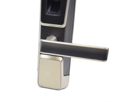 Smart замок ZKTeco ZM100 left для лівих дверей зі скануванням обличчя і зчитувачем відбитку пальця