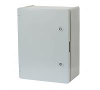 Щит ERKA 023 300 x 400 x 180 мм з монтажною панеллю і опаловими дверцятами