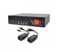 Активний 4-канальний приймач ATIS AL-1204 UHD відеосигналу і живлення через UTP