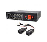 Активний 8-канальний приймач ATIS AL-1208 UHD відеосигналу і живлення через UTP