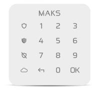 Бездротова клавіатура MAKS Keypad mini
