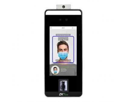Термінал розпізнавання облич (в масці), температури, долоні, відбитка пальця ZKTeco SpeedFace-V5L [TD]