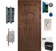 Комплект броньованих дверей ТИТАН GSM з 2 ригельними замками + GSM