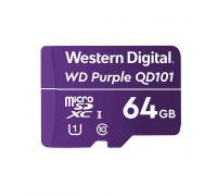 Карта пам'яті Western Digital MEMORY MICRO SDXC QD101 64GB UHS-I WDD064G1P0C WDC спеціалізована для відеоспостереження