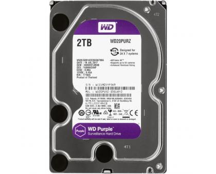 Жорсткий диск 2TB Western Digital WD20PURZ для відеоспостереження