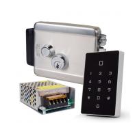 Комплект контролю доступу з кодовою клавіатурою ATIS AK-602B, блоком живлення Full Energy BGM-123Pro 12 В / 3 А, електромеханічним замком ATIS Lock SS
